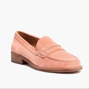 Madewell Elinor Rose Suede Loafers size 8.5